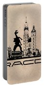 Cracow Skyline Black Portable Battery Charger