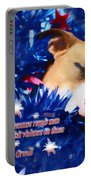 Cradled By A Blanket Of Stars And Stripes - Quote Portable Battery Charger
