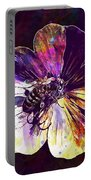 Cranesbill Flower Close Bee Insect  Portable Battery Charger