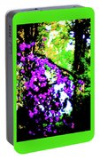 Crape Myrtles Abstract Portable Battery Charger