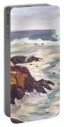 Crashing Wave On Maine Coast Portable Battery Charger
