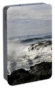 Crashing Waves At Cape Perpetua Portable Battery Charger