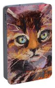 Crazy Cat Tabby  Portable Battery Charger
