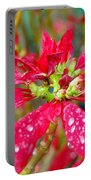 Crazy Dewy Red Flower Portable Battery Charger