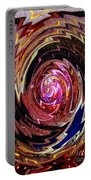 Crazy Swirl Art Portable Battery Charger