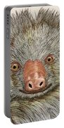 Crazy Two Toed Sloth Portable Battery Charger