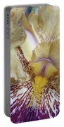 Cream And Purple Iris Portable Battery Charger