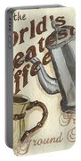 Cream Coffee 1 Portable Battery Charger by Debbie DeWitt