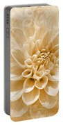 Cream Floral Portable Battery Charger