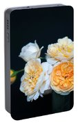 Creamy English Roses Portable Battery Charger