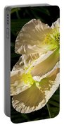 Creamy Poppies Portable Battery Charger