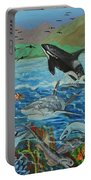 Creation Fifth Day Sea Creatures And Birds Portable Battery Charger