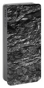 Creek Ripples B And W Portable Battery Charger