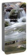 Creek With Rocks Spring Scene Portable Battery Charger