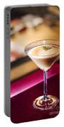 Creme Caramel Martini Cocktail In Bar Portable Battery Charger