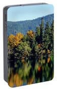 Crescent Lake Fall Colors Portable Battery Charger