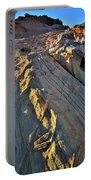 Crest Of Sandstone Wave At Sunset In Valley Of Fire Portable Battery Charger