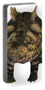 Crichtonsaurus On White Portable Battery Charger