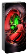 Crimson Affection Abstract Portable Battery Charger