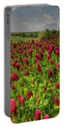 Crimson Clover Patch Portable Battery Charger