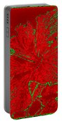 Crimson Hibiscus Portable Battery Charger