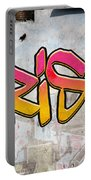 Crisis As Graffiti On A Wall  Portable Battery Charger