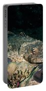 Crocodile Fish On Coral Portable Battery Charger
