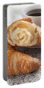 Croissants And Coffee Portable Battery Charger