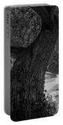 Crooked Oak Black And White Portable Battery Charger