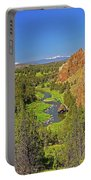 Crooked River And Mt Hood Oregon Portable Battery Charger