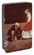 Croquet Scene Portable Battery Charger