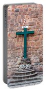 Cross And Cusco Cathedreal Portable Battery Charger