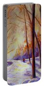 Cross Country Sking St. Agathe Quebec Portable Battery Charger