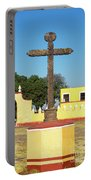 Cross In Cholula, Mexico Portable Battery Charger