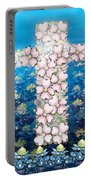 Cross Of Flowers Portable Battery Charger