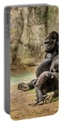 Cross River Pregnant Gorilla And Children Portable Battery Charger
