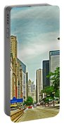 Crossing Chicago's South Michigan Avenue Portable Battery Charger