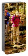 People Series - Crossing The Stream Portable Battery Charger