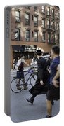 Crossing The Street In Dumbo Portable Battery Charger
