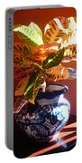 Croton In Talavera Pot Portable Battery Charger