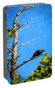 Crow In An Old Tree Portable Battery Charger