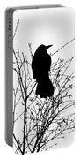 Crow Rook Perched In A Tree With Pare Branches In Winter Portable Battery Charger