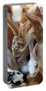 Crowd Of Rabbits Portable Battery Charger