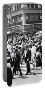 Crowded Street, Nyc, C.1960s Portable Battery Charger