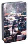 Crowded Streets Portable Battery Charger