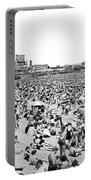 Crowds At Coney Island Beach Portable Battery Charger