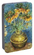 Crown Imperial Fritillaries In A Copper Vase Portable Battery Charger