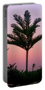 Crown In Pink Sky Portable Battery Charger
