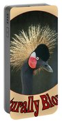 Crowned Crane - Naturally Blonde - Transparent Portable Battery Charger