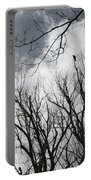 Crows In Cottonwoods Portable Battery Charger